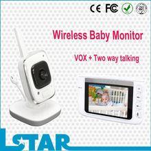 """Digital video baby monitor,3.5"""" TFT LCD night vision cheap baby monitors uk"""