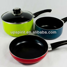 saucepan 3pcs/set Aluminum Non-stick pan/holloware/boiler cauldron/ 3 colors Western style kitchenware