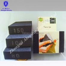 Oem de limpieza esponja de lijado abrasivo / polaco ing madera furture bloque de lijado / de la mano bloque pulidor
