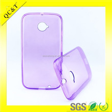 Clear mobile phone case fo Moto E2 E+1/XT1527