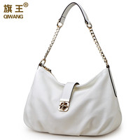 free shipping Branded hobo bags 100% real leather shoulder bags totes with chain