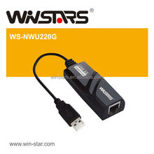 mini USB 2.0 Gigabit Ethernet Adapter,Supports USB full and high speed modes with bus power capability