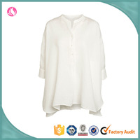 Young Ladies' Latest Design Causal Style Plain Color Blouse