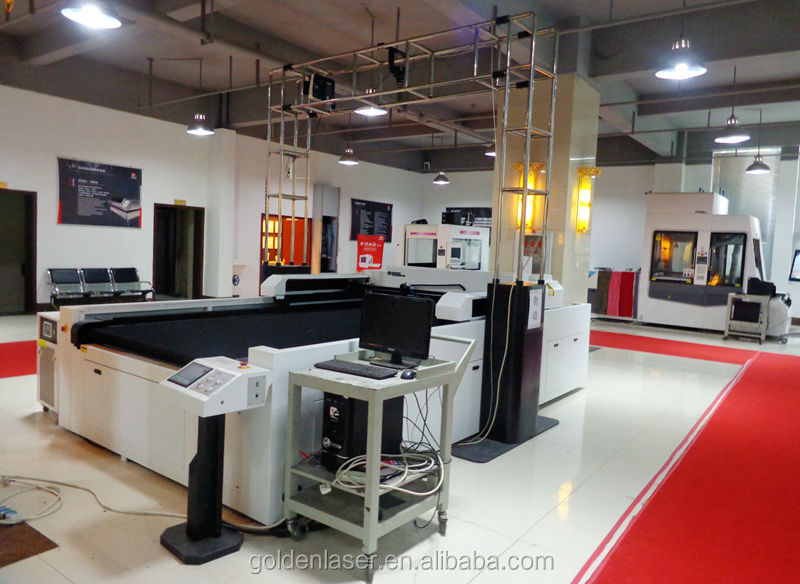 garment laser cutting with projector