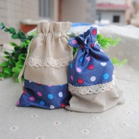 Custom Gifts Jewelry Pouches Cotton Drawstring Jewelry Bag