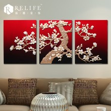 3d garden scenery oil painting. flower group oil painting, decorative painting clock