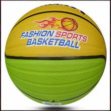 soft colorful rubber standard basketball size 7