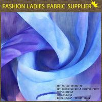 shaoxing textile High quality soft hand feeling dress fabric, 100D chiffon fabric, skating dress fabric