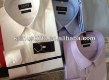 Formal long sleeves shirts for men Quality Luxury Herringbone men dress shirts