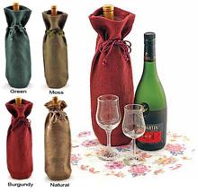 PG356 Hot Selling Linen Wine Bag