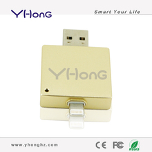 USB flash drive for iPhone/iPad/iTouch, built-in Taiwan chip pen drive, upgrade decorated usb flash drive