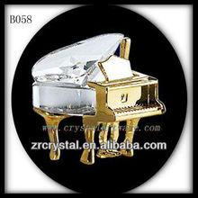 K9 3D cristal plateado del oro de Piano regalos del bebé
