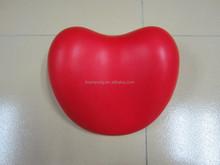 2015 new design pu foam heart pillow/bean shape pillow