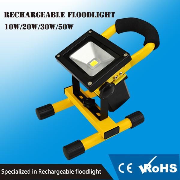 Battery Powered Portable Floodlights : Battery powered led flood lights portable work