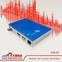 Hot selling Q-sat Q17 mini HD update satellite decoders coders in Chile Market