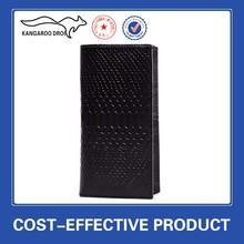 2014 Hot wholesale embossed genuine men leather travel wallet