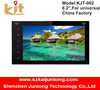 """Camera+Double 2 Din 7"""" In Dash Stereo Car DVD Player Bluetooth Radio iPod SD Touch Screen KJT-OO2"""