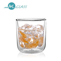 200ml high borosilicate double wall glass coffee/tea/beer/water cups N6085