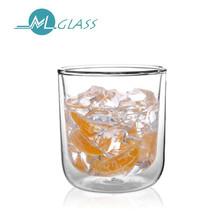 200ml high borosilicate double wall glass coffee/tea/beer/water cups N6085