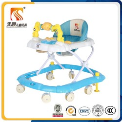 Tianshun Factory plastic simple sit to stand learning baby walker with little bird toys