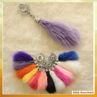 Fox Fur Keychain for Women Bag Hanging Ornament BA 006-6