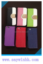 Durable and fashionable PU and tpu mobile phone case