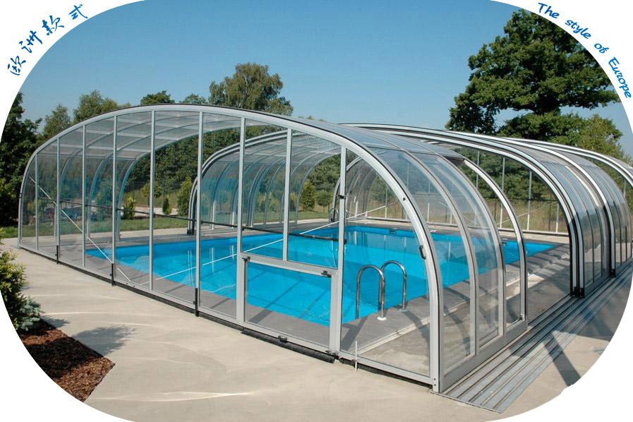 2015 polycarbonate swimming pool cover pool noodles buy for Plexiglass pool enclosure