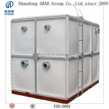 high quality FRP / fiberglass SMC water tank with food grade resin in water treatment