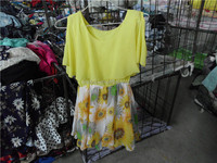 Clean used clothing lots racks for sale