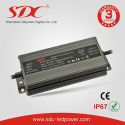 SDC-AST060 60W CE Certificated IP67 Constant Current 36V/1800mA LED Driver LED Waterproof Power Supply