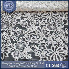 High quality competitive price cotton crochet lace fabric best quality Designer cotton fabrics/ wedding dress fabrics Curtain
