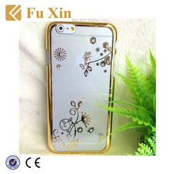 Hot selling Electroplating with diamond 3d phone case for iphone 6 plus case, for iPhone 6