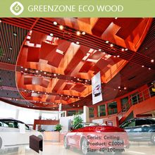 Fashion wood plastic composite ceiling new design waterproof wood ceiling