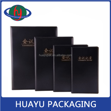 Top class pu leather business notebook for office