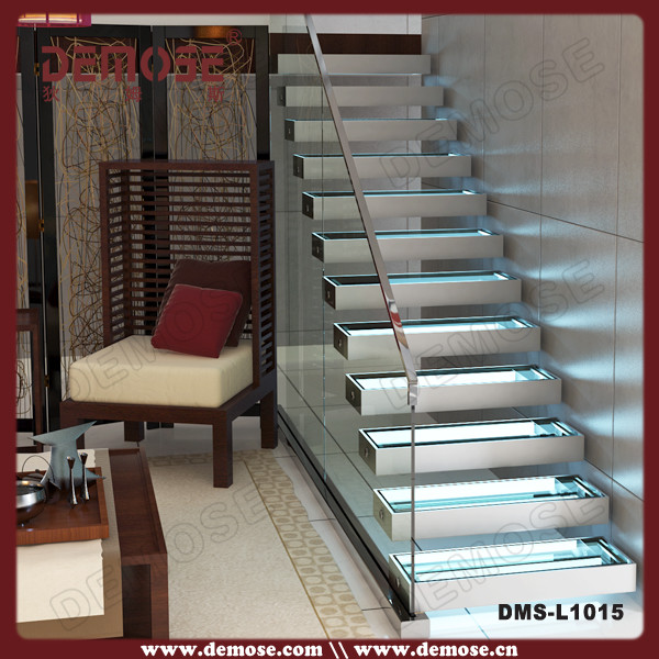 automatic stair lights invisible stringer led stair lights. Black Bedroom Furniture Sets. Home Design Ideas