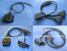 OBD2 Double Connector to Open wire,Male to DB/Female