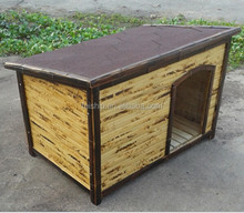 Wholesale KD bamboo wooden dog house