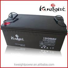 Solar Gel battery 12V 200AH Sealed Lead Acid battery AGM battery for ups,solar company direct sale