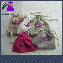 Custom Pastoralism Colorful Drawstring Small Jute Bag For Gift