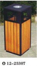 wood plastic outdoor dustbin