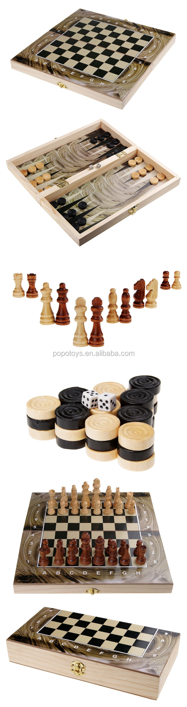 Wooden chess game backgammon checkers set wooden games Where can i buy a chess game