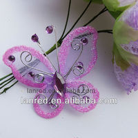 Hot sale handmade Silk butterfly for home decoration