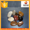 High polished mixed colored river stone and natural river pebble stones