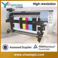 Automatic sticker banner printing machine 1.6m 6 color YF-1700X printhead eco solvent printer with dx10 printhead