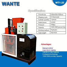 WT1-25 cheap china manufacture soil interlocking compressed earth block machines