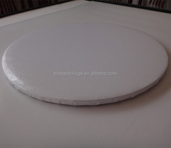 high quality turned edge corrugated paper white cake boards