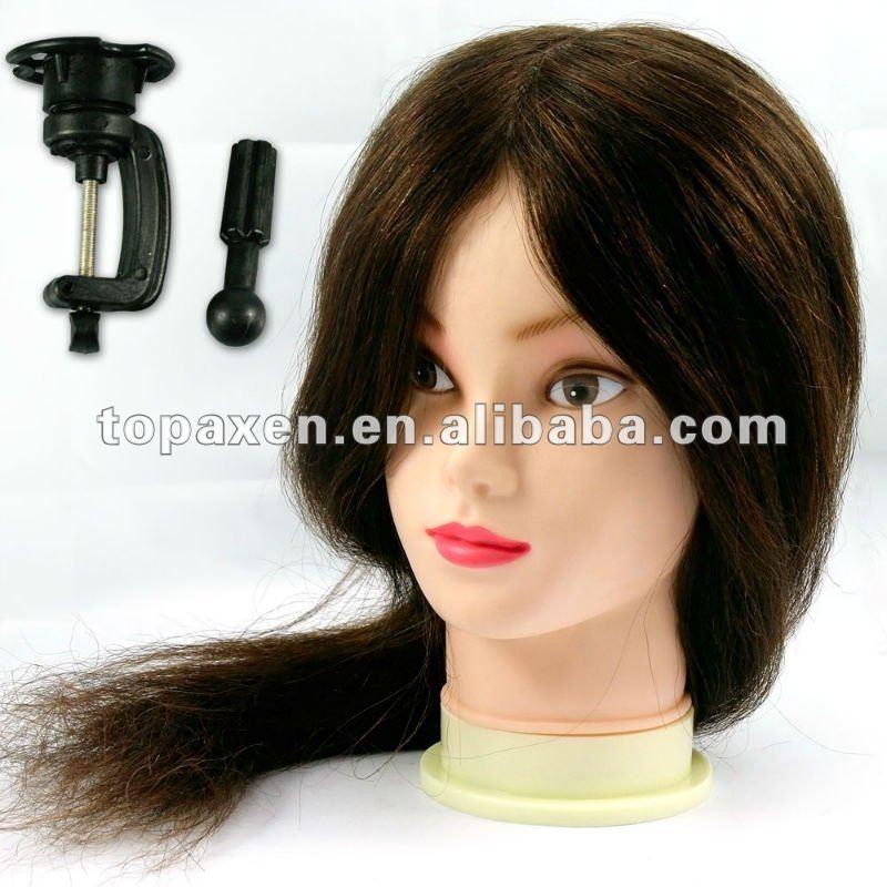 """La cabeza de formación 100% de cabello humano Real 18 """" de largo peluquería equipo para el salón"""