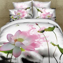 Unique Oil printed 3D Bed Linen with Fitted Sheet and bedding comforter set