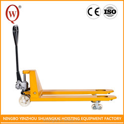 Ultra low profile Nylon PU or Rubber CE 3 Ton Hand Pallet Truck