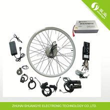 Shuangye bateria 36V10ah com eficiência energética brushless do motor 36V250W 36V250W kit de conversão bicicleta elétrica